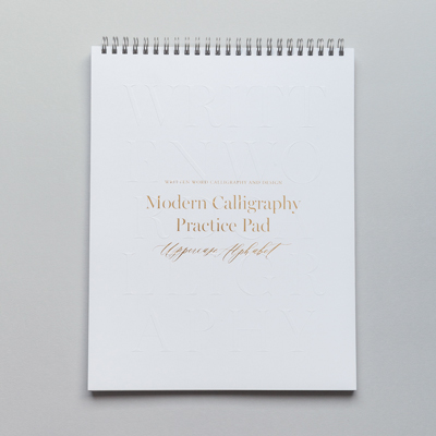 Modern Calligraphy Uppercase Practice Pad Workshop