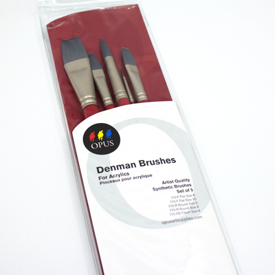 Opus Denman Brush Set Assorted (Long-handled)