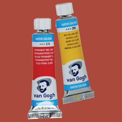 Van Gogh Watercolor Paint Light Oxide Red
