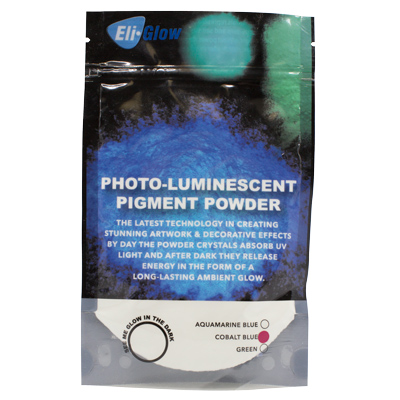 Eli-Chem Photo-Luminescent Pigment Powder - Cobalt Blue