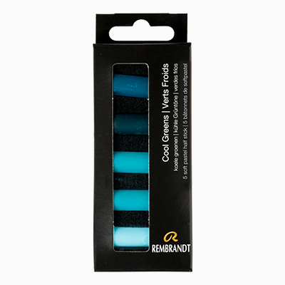Rembrandt Soft Pastel Set Half Stick Cool Greens