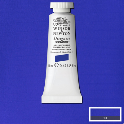 Winsor & Newton Designers Gouache Brilliant Purple