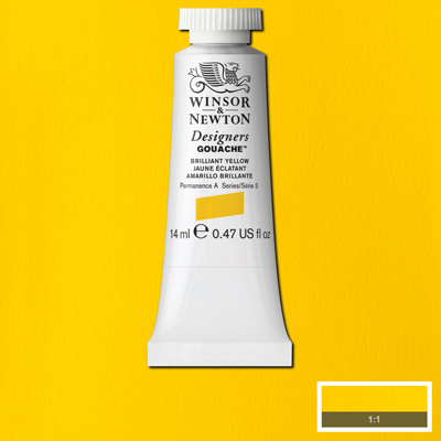 Winsor & Newton Designers Gouache Brilliant Yellow