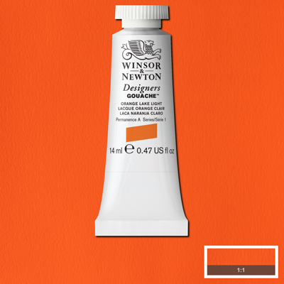 Winsor & Newton Designers Gouache Orange Lake Light