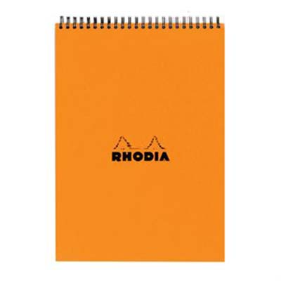 Rhodia Spiral Lined Pad A5 Orange