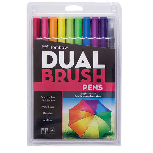 Tombow Dual Brush Pen Sets of 10