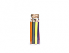 Kikkerland Colored Pencils In Glass Jar Set of 12