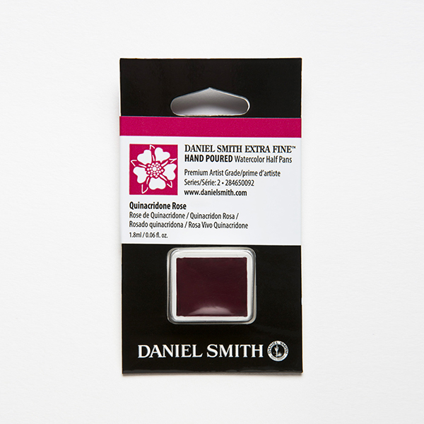 Daniel Smith Watercolor Half Pan Quinacridone Rose