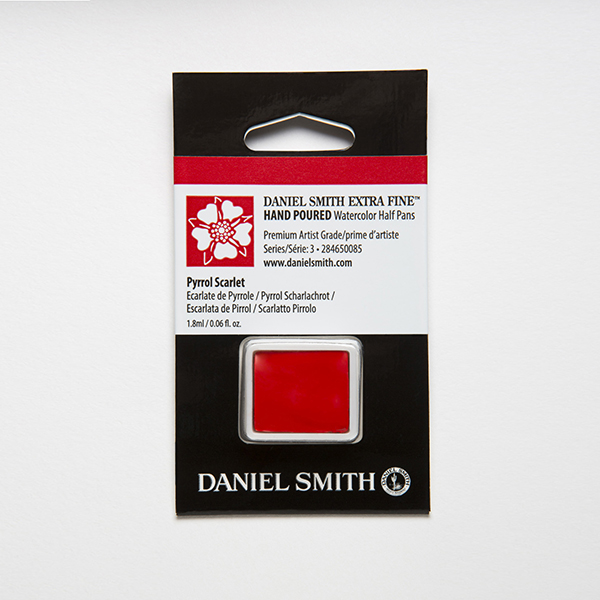 Daniel Smith Watercolor Half Pan PYRROL SCARLET