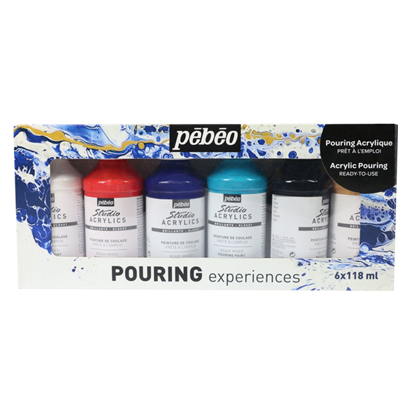 Pebeo Premixed Pouring Set of 6