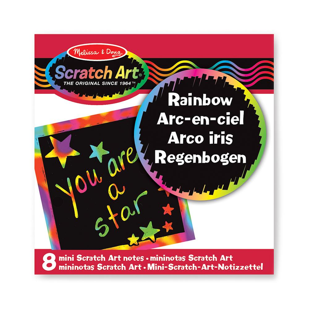 Scratch-Art Scratch Magic Rainbow Mini Notes Pk/8