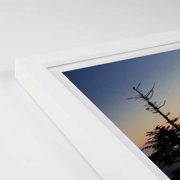 Bowen Wood Frame - White