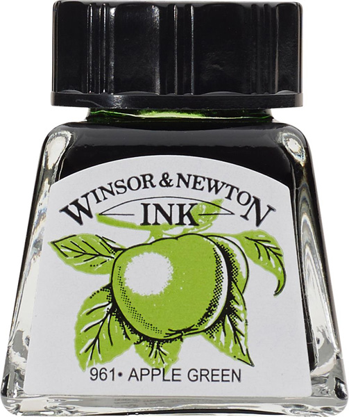Winsor & Newton Drawing Ink - Apple Green