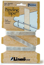 "Lineco Book Binding Tape 3/8"" x 60"""