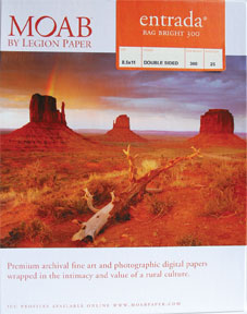 Moab Entrada Rag Bright Photo Paper Pack 190 gsm Pk/25 (Special Order)
